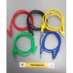 Kit de 5 cables de silicona...
